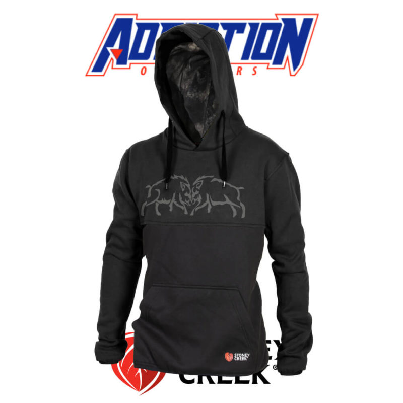 Boar Fight Hoodie - Black LMM-0311-ABK