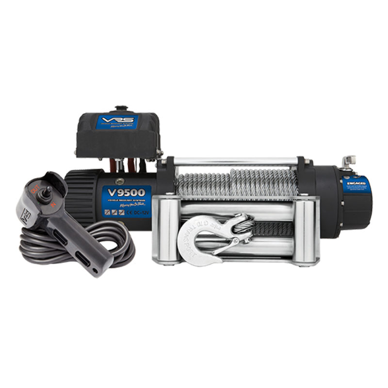 V9500 VRS Winch 12V 9500lb with Wire Rope