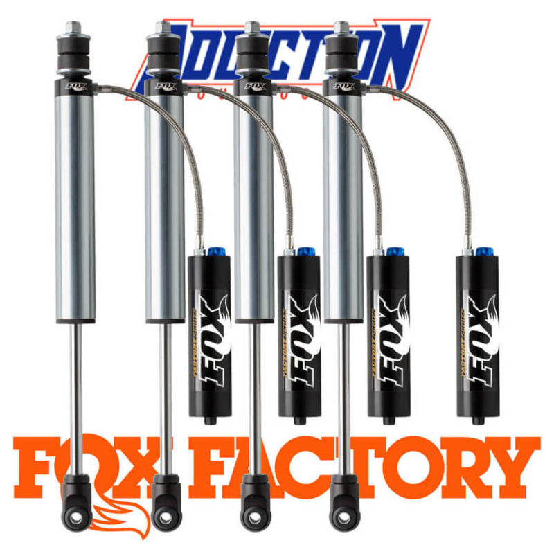 """Fox 2.0 Factory Series Remote Reservoir 3-4"""" Lift With Lsc Adjusters Set - Toyota Landcruiser 70 Series 2007-0N"""