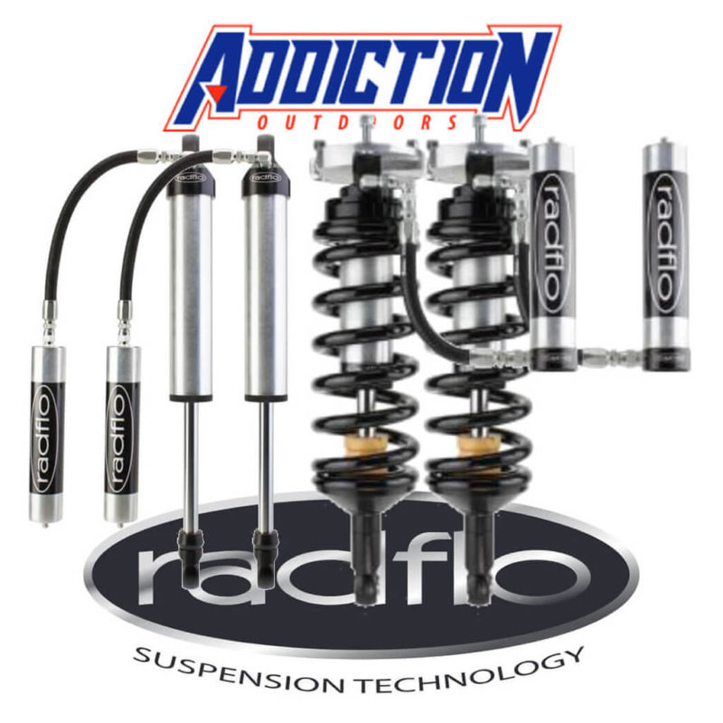 "Radflo 2.5 Remote Reservoir 1-3"" Lift Set - Isuzu Dmax  2012-ON"